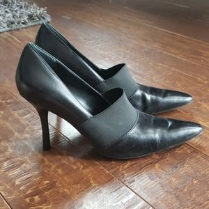Marc fisher 8M leather pointy toe heels
